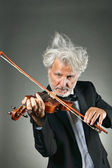 Elegant senior violinist — Stock Photo