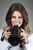 Smiling photographer  — Stock Photo