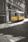 Famous Tram number 28 in Lisbon  — Stock Photo