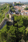 Obidos con paredes de piedra medievales — Foto de Stock
