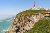 Cabo da Roca lighthouse and cliffs — Stock Photo