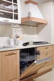 Detail of country style white  kitchen  — Stock Photo