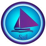 Постер, плакат: Boat sail logo