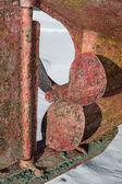 Old rusty propeller — Stock Photo