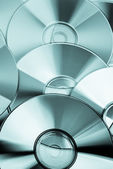 几个 cd 和 dvd 光盘 — 图库照片