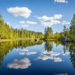 Stock Photo: Harmonious picture of tranquil lake