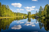 Harmonious picture of a tranquil lake — Stock Photo