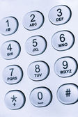 Keypad with numbers and letters — Stock Photo