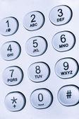 数字や文字がキーパッド — ストック写真