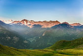 Beautiful view of the Alps in the morning — Stock Photo