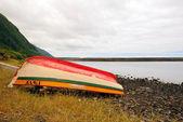 Boat in Faja — Stock Photo