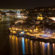 Porto at Night, Portugal — Stock Photo