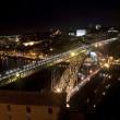 Stock Photo: Bridge of Luis I at night, Porto, Portugal