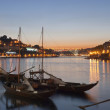 Traditional porto wine boats in Porto, Portugal — Stock Photo