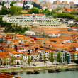 Wine cellars in Porto, Portugal - Stock Photo