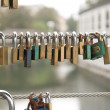 Love Locks on the Fence — Stock Photo