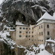 Predjama castle in the winter, Slovenia - Stok fotoğraf