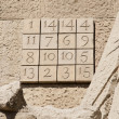 Stock Photo: Magic square numbers on Sagrada Familia