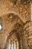 Columnata en parque güell, barcelona — Foto de Stock