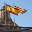 Royalty-Free Stock Photo: Spanish and Catalan flag