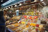 Market La Boqueria in Barcelona, Spain — Stock Photo