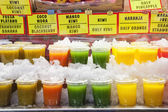 Fresh drinks for sell — Stock Photo