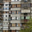 Typical socialistic block in Serbia — Stock Photo
