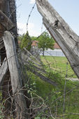 Barbed wire in concentation camp, Nis, Serbia — Stock Photo