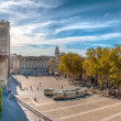 Square at Pope's palace, Avignon, HDR image — Stock Photo