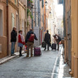 People on the streets of Marseille old town — Stock Photo