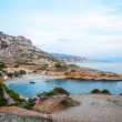 Stock Photo: Smaragd bay in Calanques natural park, France