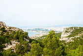 Hills, mountains and see of Calanque national park, Marseille — Stock Photo