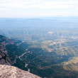 Aerial view from mountains of Montserrat, Catalonia — Stock Photo