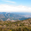 Aerial view from mountains of Montserrat, Catalonia — Stok fotoğraf