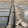Drainage system between salt evaporation ponds — Stock Photo #39115071