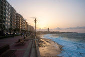 Promenade of Sliema in sunset, Malta — Стоковое фото
