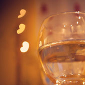 Celebration.Glasses of wine. The concept of Valentine's Day. — Stock Photo