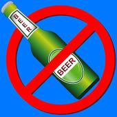 Geen symbool drankje — Stockvector