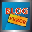 Stock Vector: Blog error icon