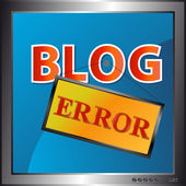 Blog fehlersymbol — Stockvektor