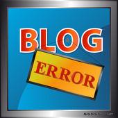 Blog icono de error — Vector de stock