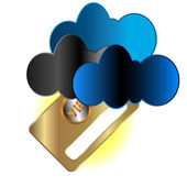 Vip card in clouds — Stock Vector