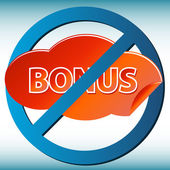 No bonus — Stock Vector