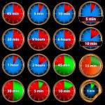 conjunto de tiempo — Vector de stock