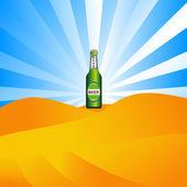 Beer in the desert — Vector de stock