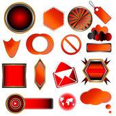 Rode collectie — Stockvector