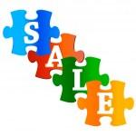 Four Sale labels — Stock Vector #13165549