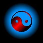 Yin-yang symbol — Stock Vector