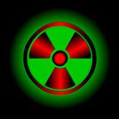 Radioactive symbol. Vector icon. — Stock Vector