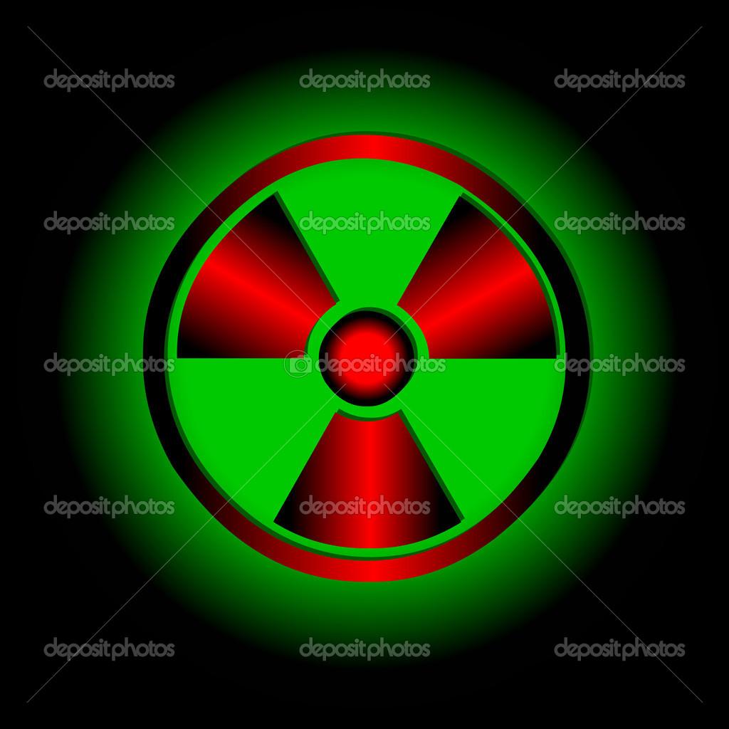 放射性符号.矢量图标